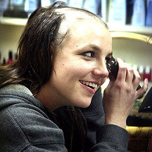 Britney head her picture shaved