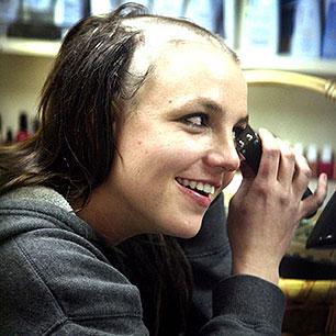 Britney has crazy hairstyles.