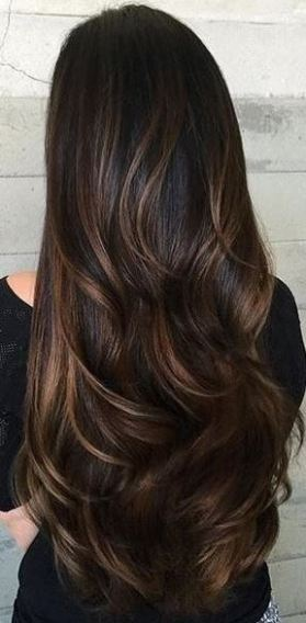 this highlighted brown hair is beautiful!