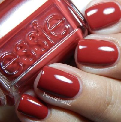 This essie red color with the band is great for winter and the holidays!