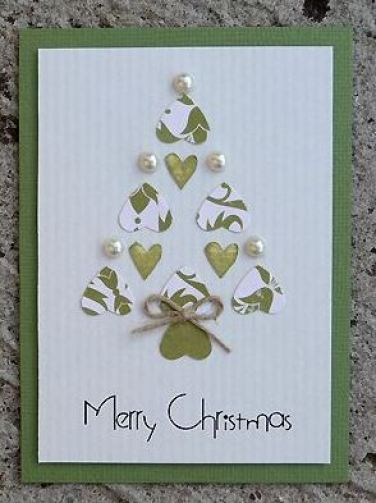 A hand made christmas card is such a good idea!