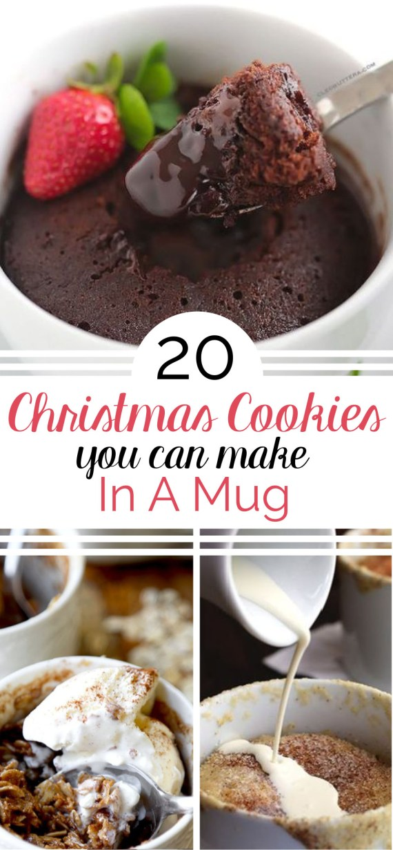 Here's your gift, 20 Christmas Cookies You Can Make In A Mug. You're welcome.