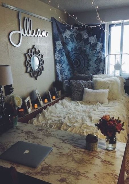 This is one of the cutest dorm room ideas for girls 50 Cute Dorm Room Ideas That You Need To Copy   Society19. Dorm Living Room Ideas. Home Design Ideas