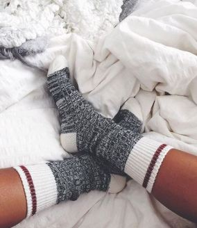 These cozy socks look so warm!