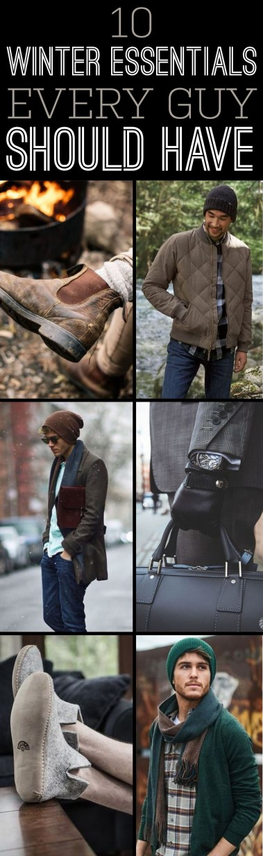 These are the winter essentials all guys should have!