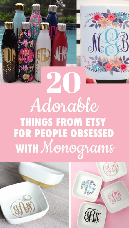 If monograms are your niche, then these etsy monograms will suck you right in!