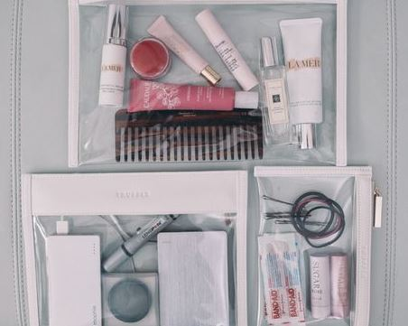 Using travel size toiletries is a great tip for how to pack for spring break in a carry on!