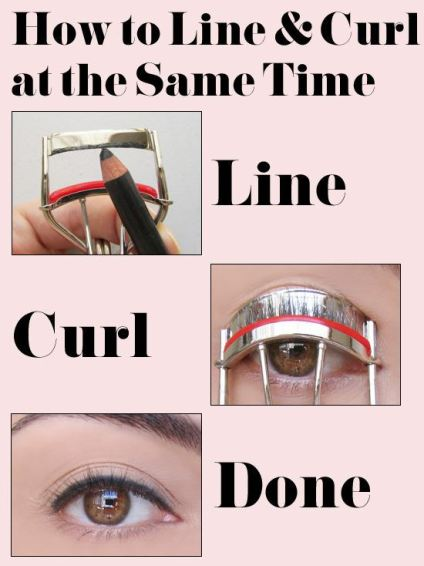 Line and curl your lashes at the same time!