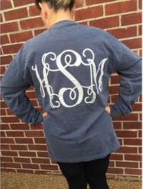this monogram clothing is so cute!