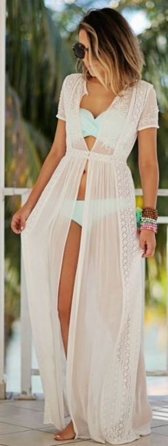 this maxi dress cover up is so cute for spring break or the summer!