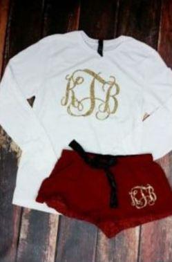 this monogram clothing is so cute!