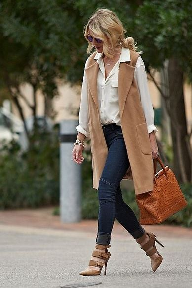 The trench vest is perfect for winter date night outfits!