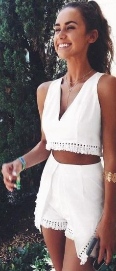 Two piece matching sets are perfect summer outfits!