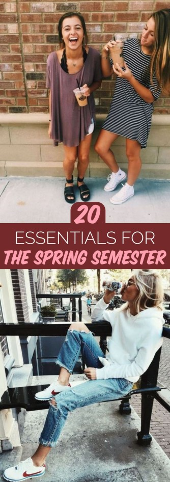 These are the essentials you'll need for the spring semester!