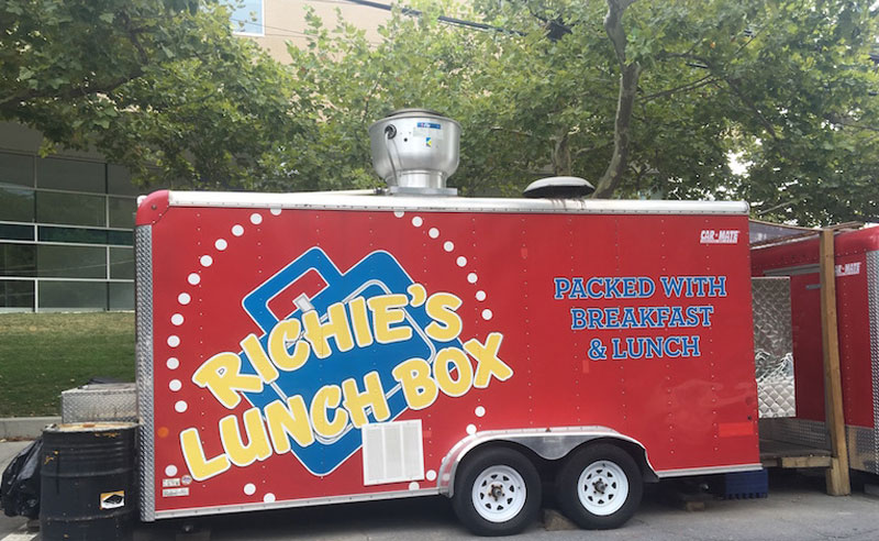 There are some delicious food trucks that serve great breakfast for cheap on Temple University's campus. If you want a great breakfast, go here!