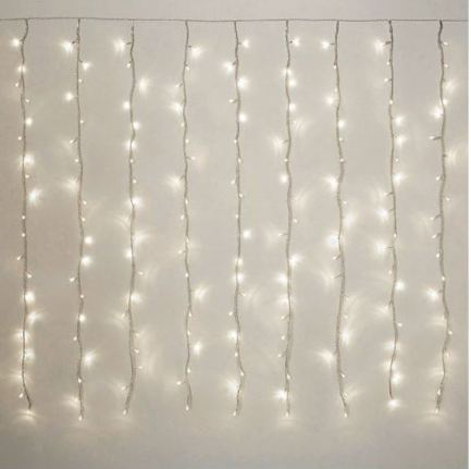 Curtain lights are easy ways to decorate your dorm room!