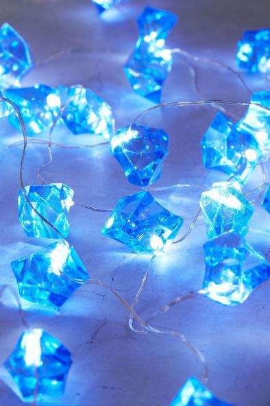 Crystal lights are awesome ways to decorate your dorm room!