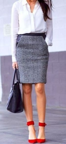 A well fitted pencil skirt is a great idea for how to dress for an interview!