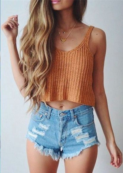 High-waisted shorts are things you'll definitely need for the spring semester!