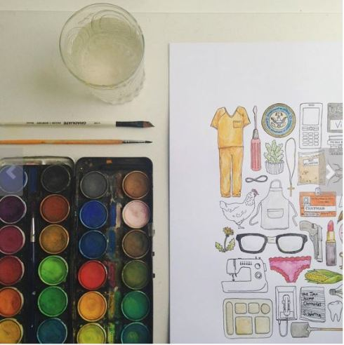 Coloring posters are perfect Orange is the New Black gifts!