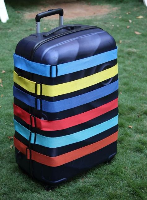 Luggage belts are cute ways to personalize your luggage!