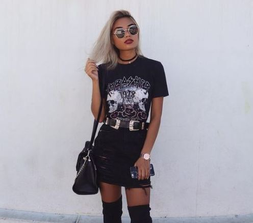 All black outfits are the definition of edgy outfits!