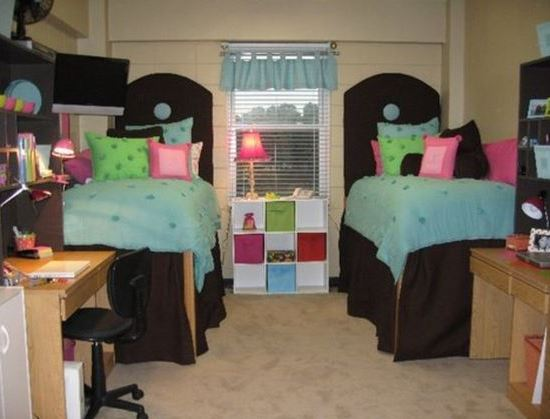 bright dorm bedding is perfect for coordinating dorm room ideas!