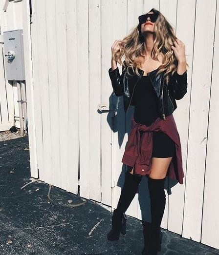 Leather jackets are the perfect accessory for edgy outfits!