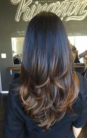 Long layers make such cute hairstyles for long hair!