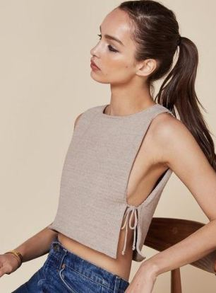 The side tie detail makes such cute crop tops!
