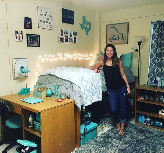 Nice This Blue Dorm Bedding Creates Such A Cute Dorm Room! Part 11