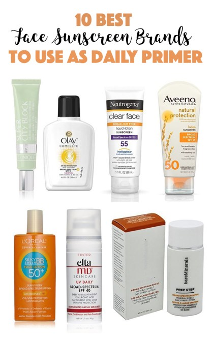 These are some of the best face sunscreen brands to use as a daily primer!
