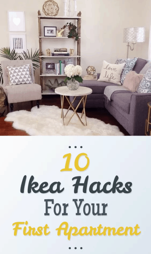 Here are 10 IKEA Hacks For Your First Apartment