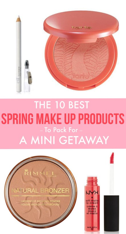 These are the best spring make up products you NEED to pack for your next getaway!