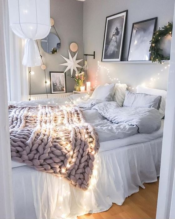 Blankets are great ways to make your bedroom cozy!