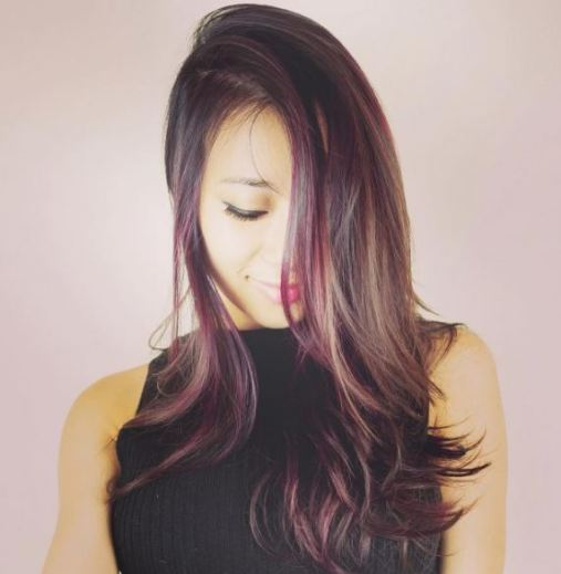 Burgandy is so pretty for brunette ombre hairstyles!