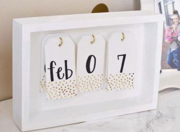 A trendy calendar is a great DIY dorm room decor idea!