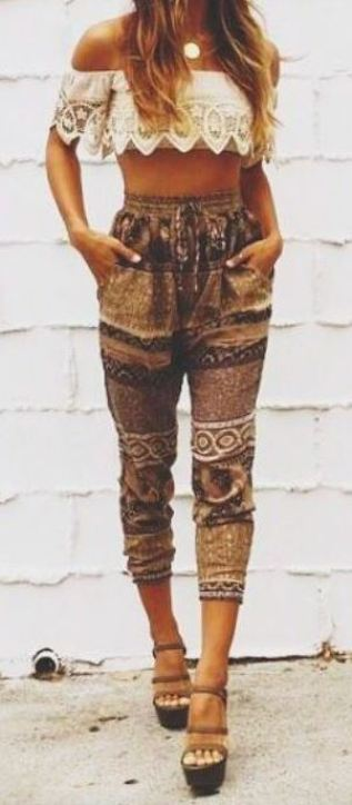 tribal print pants are perfect for that bohemian style look!