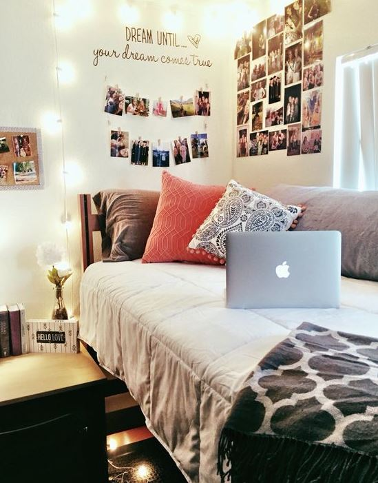 Photo displays are great ways to make your bedroom cozy!