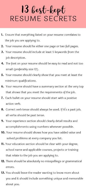 Having a resume is essential to have in your interview bag!