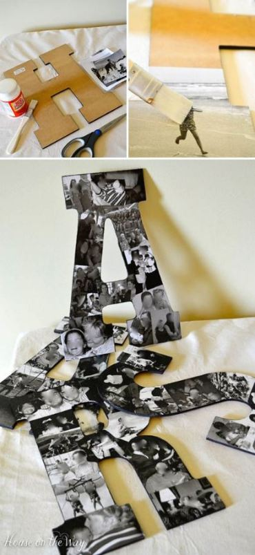 A picture collage is a great DIY dorm room decor idea!