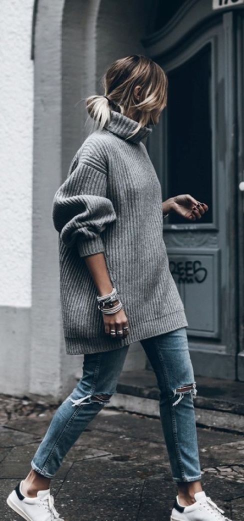 Oversized sweaters are great for back to school!