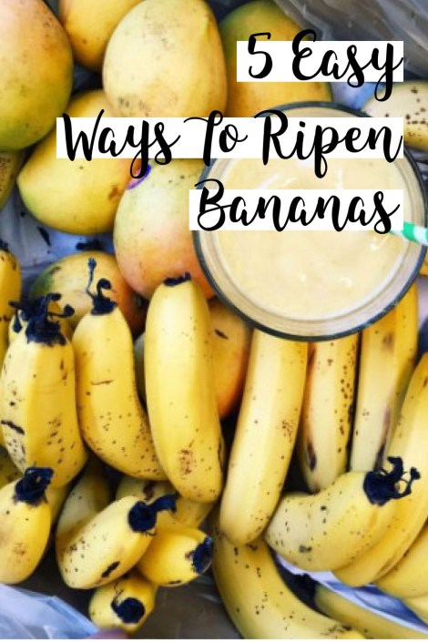 These are the easiest ways to ripen your bananas!