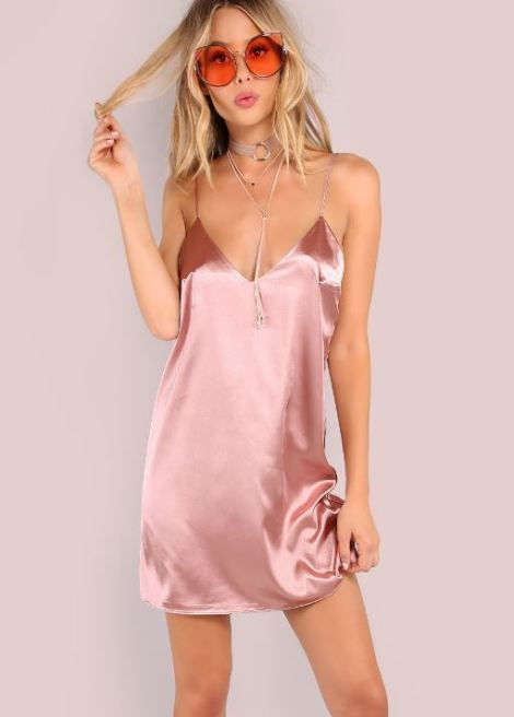 Satin cami dresses are perfect sexy club dresses!