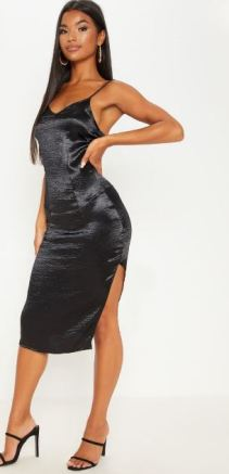 This slip dress is perfect for staying casual or getting dressed up!