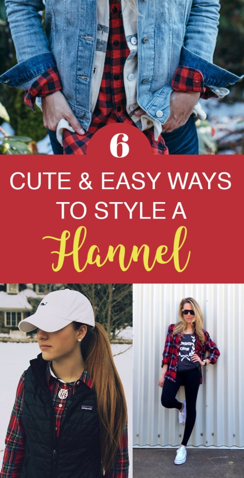 These are the easiest ways to style your flannel this fall!