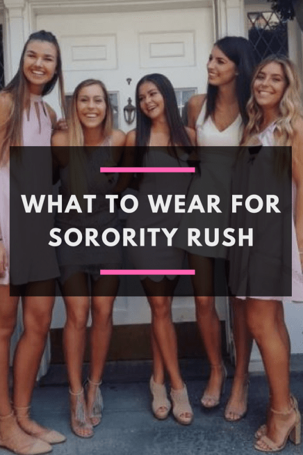 What to Wear for Rush