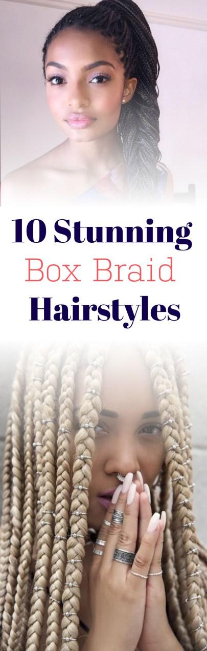 I love these box braid hairstyles! So cute!