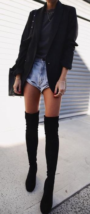 To Wear Thigh High Boots This Winter