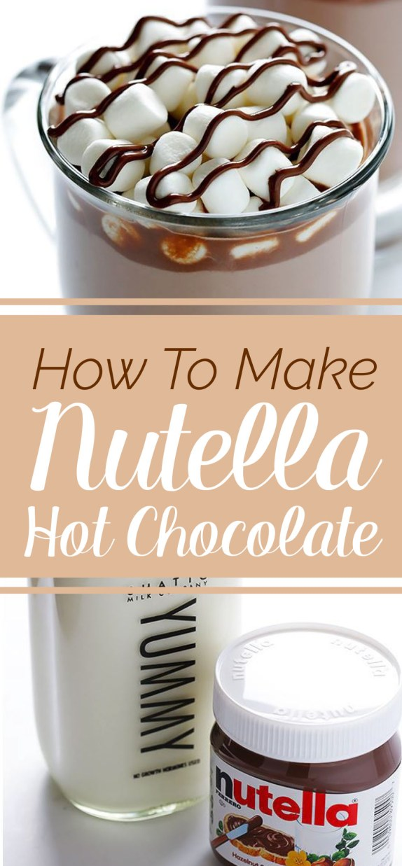 Hot chocolate is amazing, but nutella hot chocolate? Say no more!